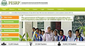 Punjab Education Reform Programme PERSP