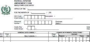 Change Pro Forma Single Entry