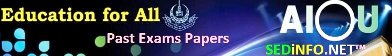 BA AIOU Code 460 Past Papers