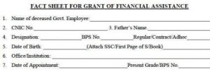 Fact Sheet for Grant of Financial Assistance