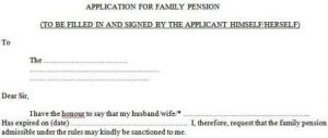 Application for Family Pension Form