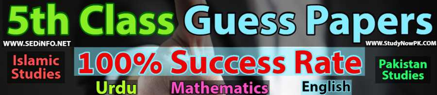 5th-class-guess-papers