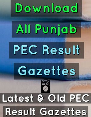 Download PEC Result Gazettes 2019