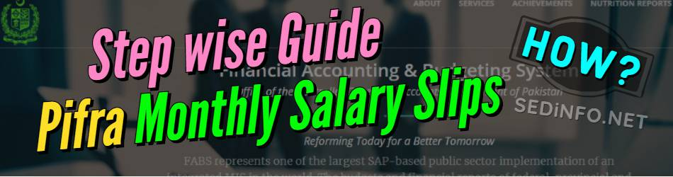 Step wise Guide for Pifra Registration for Monthly Salary Slip