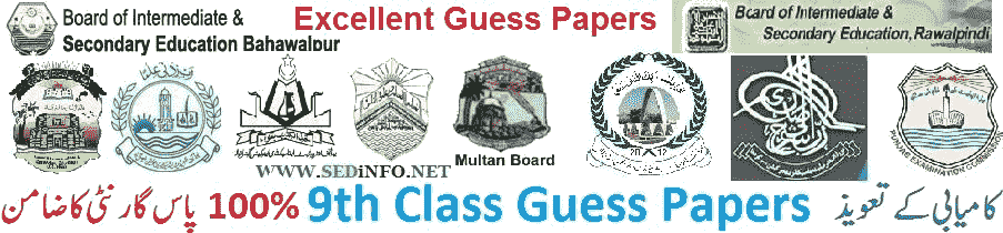 all classes guess-papers