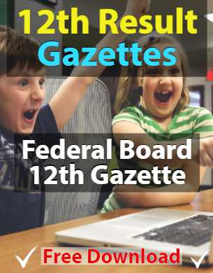 FBISE Federal Board Result Gazettes fi