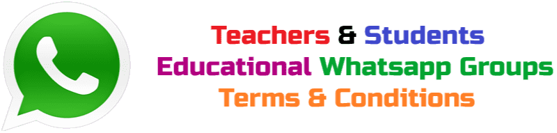 Terms & Conditions Educational Whatsapp Groups