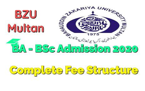BZU Multan BA - BSc Private Admissions 2020