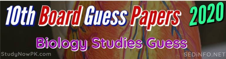 10th Biology Guess Papers all Punjab Boards