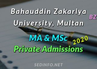 BZU MA - MSc Private Admissions 2020 FI