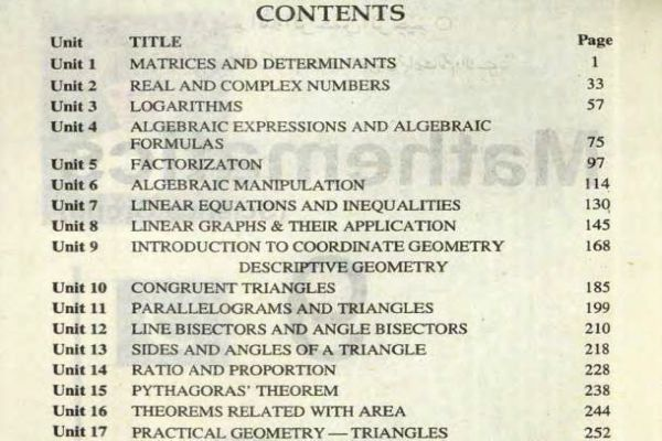 9th-Math-Book-English-Medium-Contents